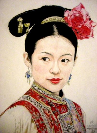 Zhang Ziyi by Bertrand